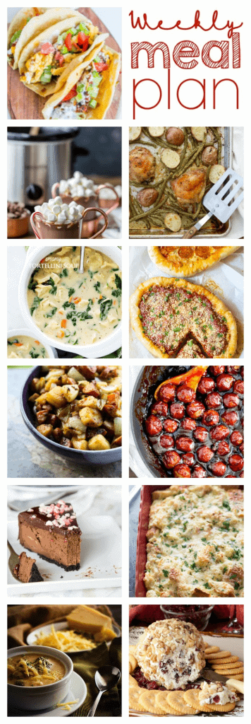 Weekly Meal Plan Week 45 – 11 great bloggers bringing you a full week of recipes including dinner, sides dishes, and desserts!