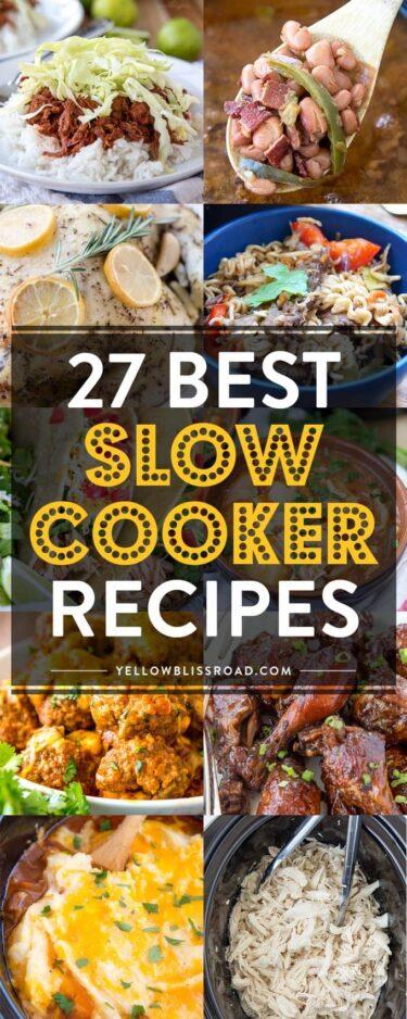 Social media image of 27 best slow cooker recipes