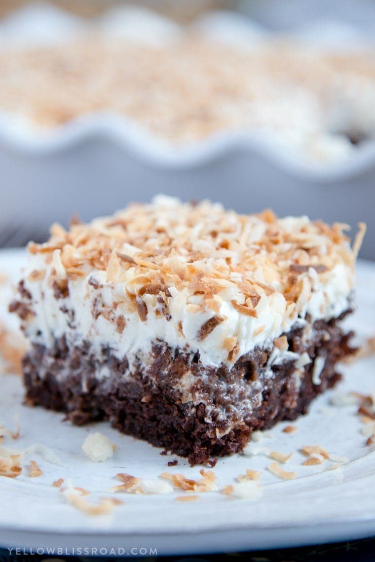 Chocolate Cake With Toasted Coconut Frosting