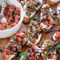 Creamy Three Cheese Bruschetta