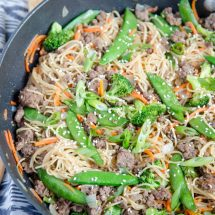 Ground Beef & Noodle Stir Fry