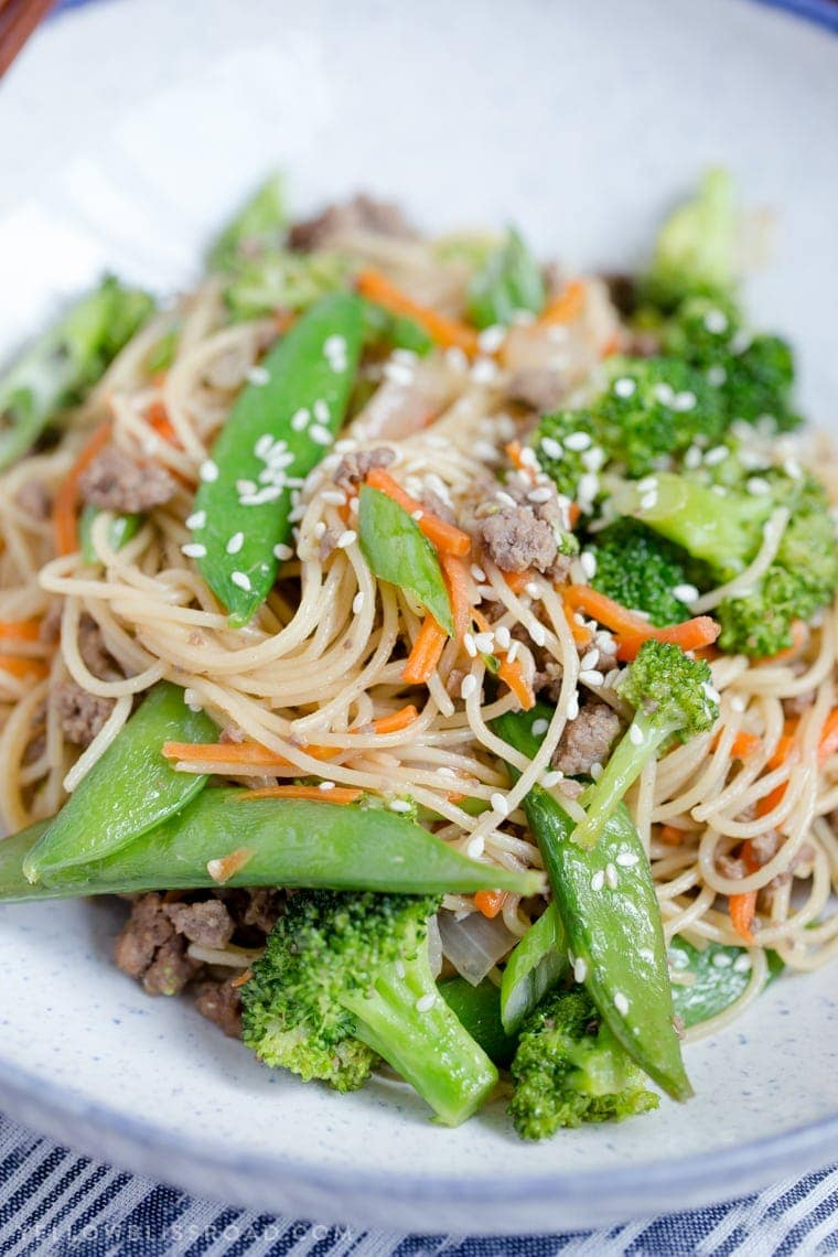 Quick Ground Beef and Noodles Stir Fry Recipe ...