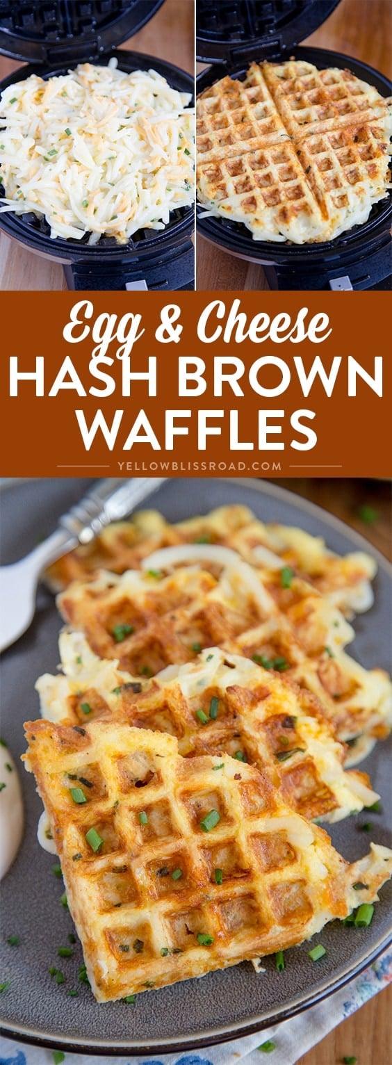 Social media image of Egg & Cheese hashbrown waffles