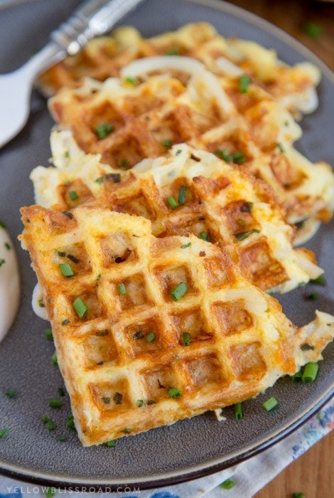 Egg & Cheese Hash Brown Waffles + Giveaway