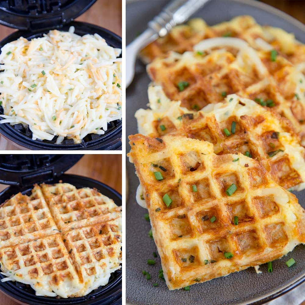 Egg Amp Cheese Hash Brown Waffles Easy Breakfast Hack