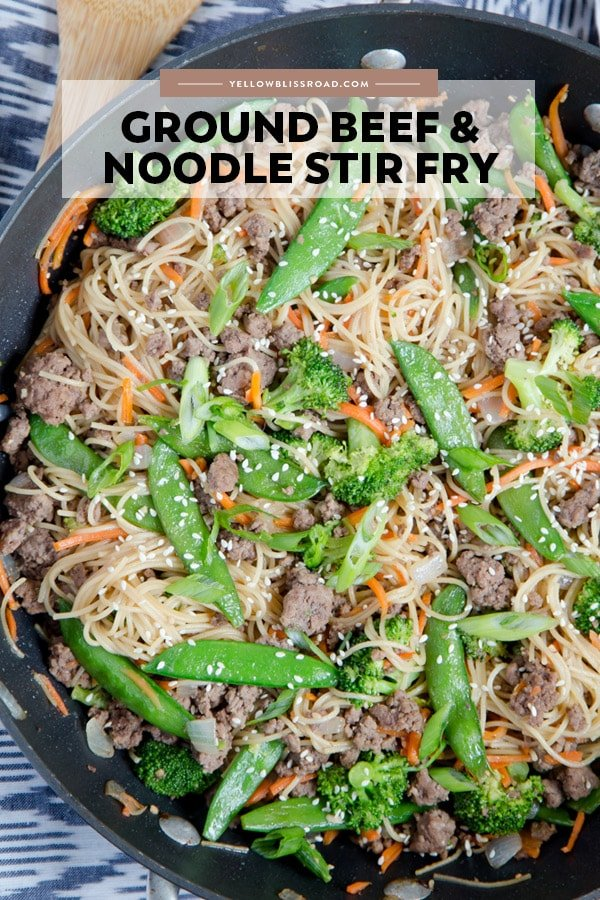 Social media image of Beef and Noodle Stir Fry