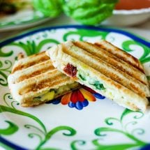 Make this comforting Mediterranean Panini with pesto, artichokes, and sun-dried tomatoes.