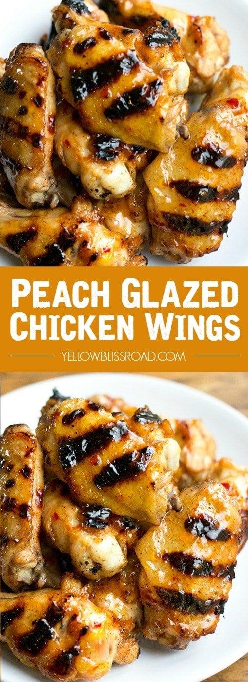Social media image of Peach Glazed Chicken Wings