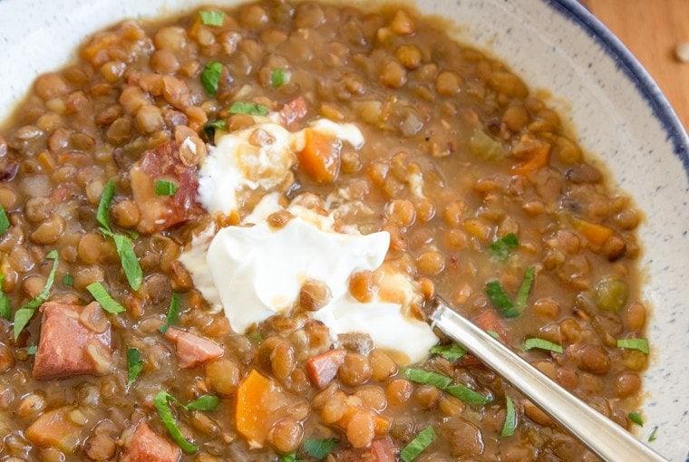Pressure Cooker Lentil Soup