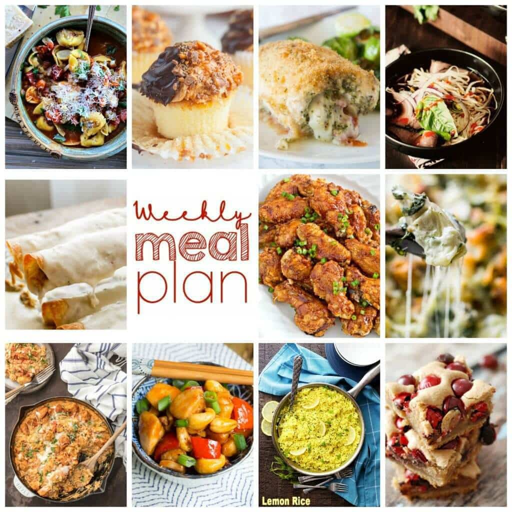 Weekly Meal Plan Week 50 – 11 great bloggers bringing you a full week of recipes including dinner, sides dishes, and desserts!