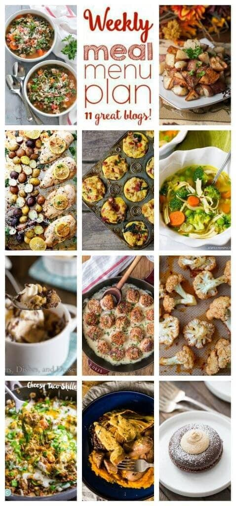 Weekly Meal Plan Week 49 – 11 great bloggers bringing you a full week of recipes including dinner, sides dishes, and desserts!