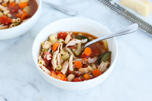 This Chicken Minestrone Soup is easy to throw together and full of warming flavors!