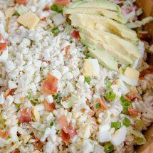 Creamy Chicken Cobb Pasta Salad