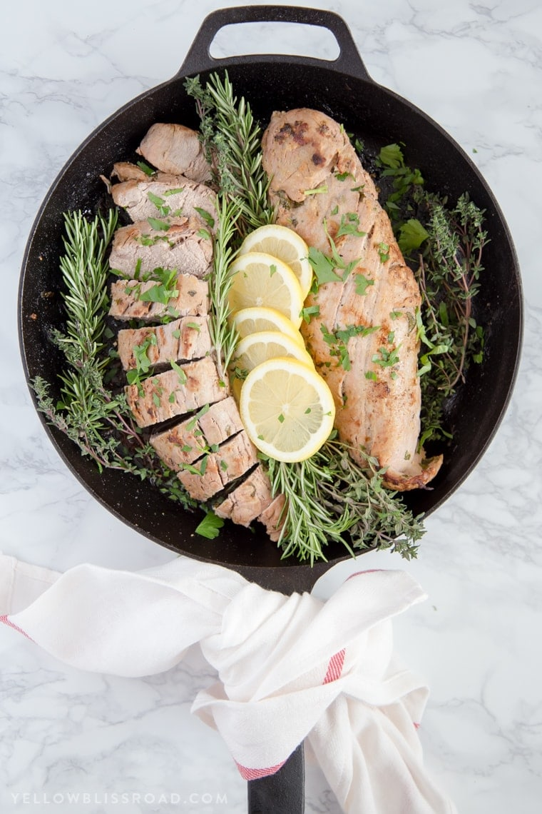 Lemon Herb Pork Tenderloin has a fresh and flavorful marinade and is an easy dinner to prepare any night of the week.