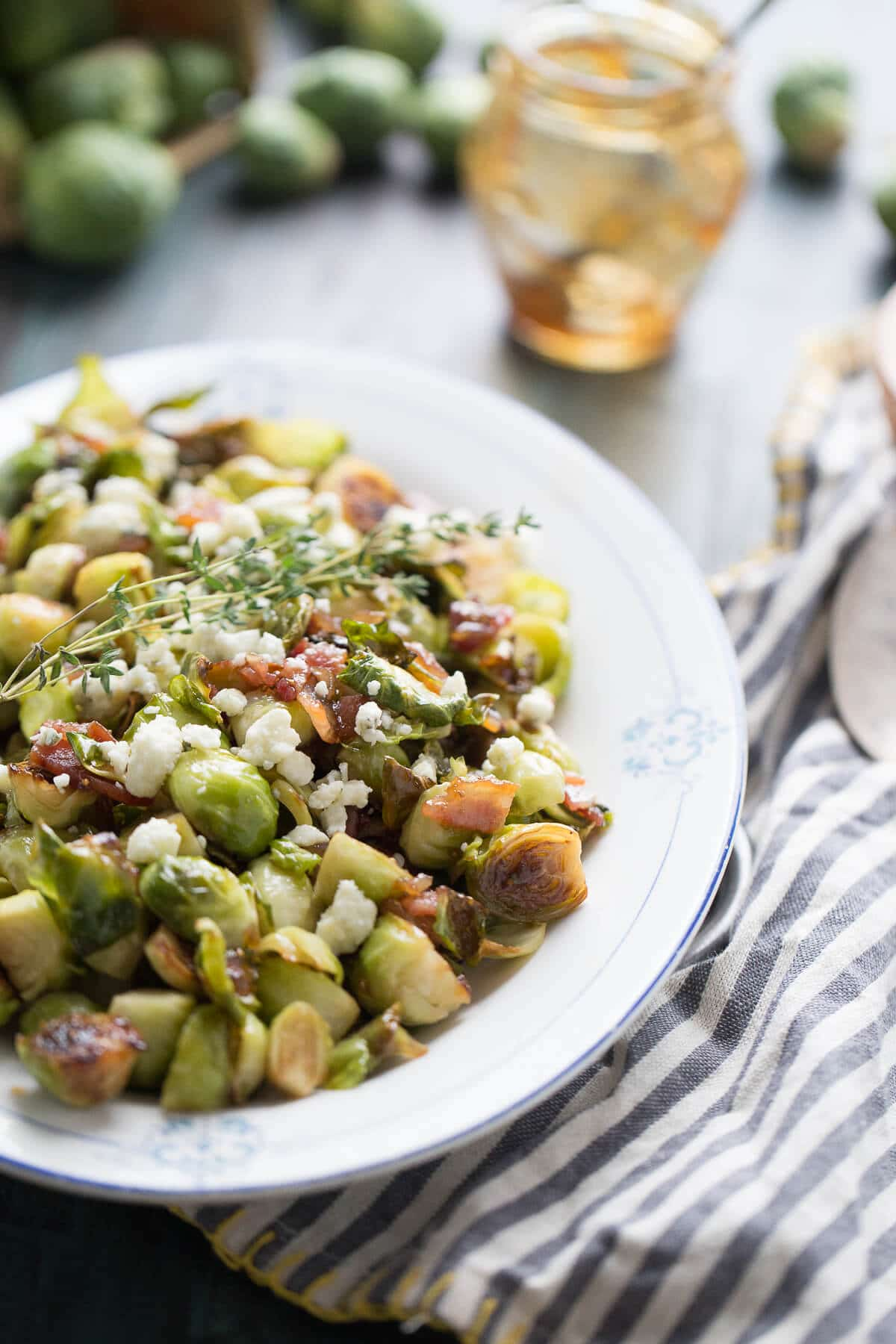A plate of Brussels sprouts