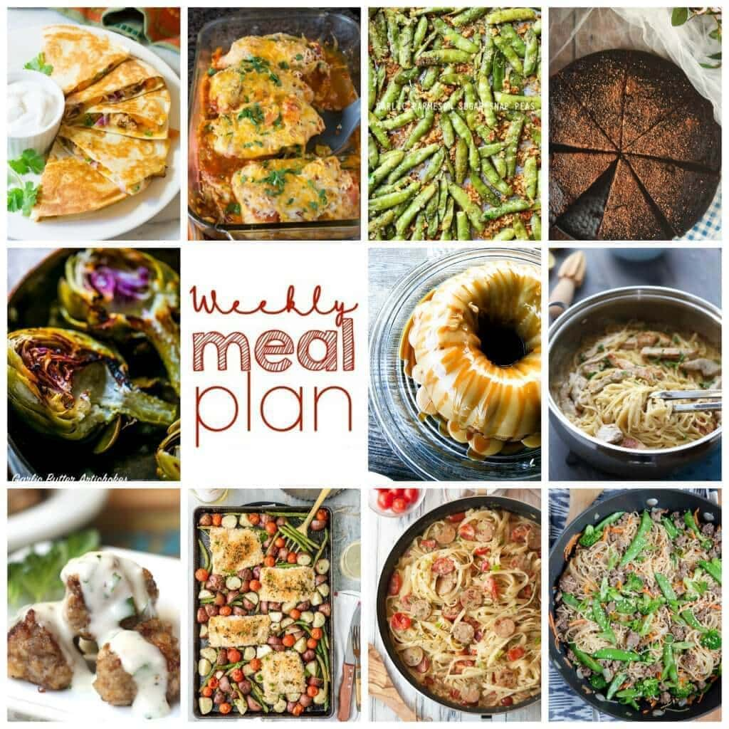 Weekly Meal Plan – 11 great bloggers bringing you a full week of recipes including dinner, sides dishes, and desserts!