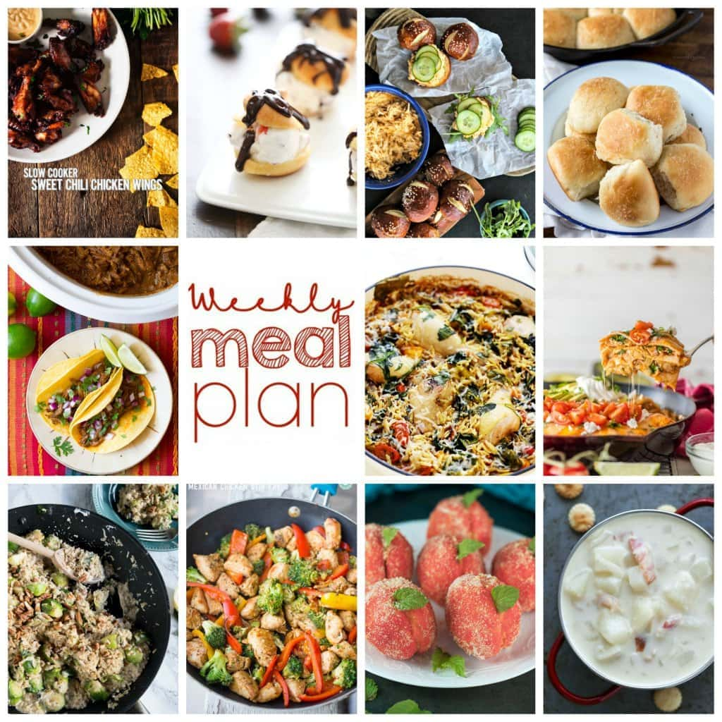 Weekly Meal Plan Week – 11 great bloggers bringing you a full week of recipes including dinner, sides dishes, and desserts!