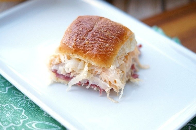 Reuben Slider Sandwiches are perfect for Saint Patrick's Day, but are so delicious, you will be craving them all year round!
