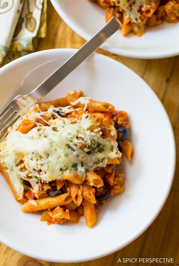 A plate of pasta and cheese