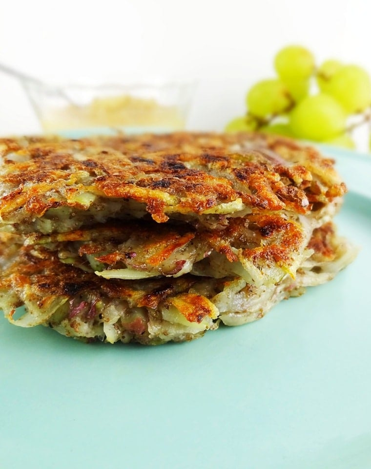 Vegan Potato Pancakes -Traditional Polish Latkes are given a healthy makeover into these Vegan Potato Pancakes.