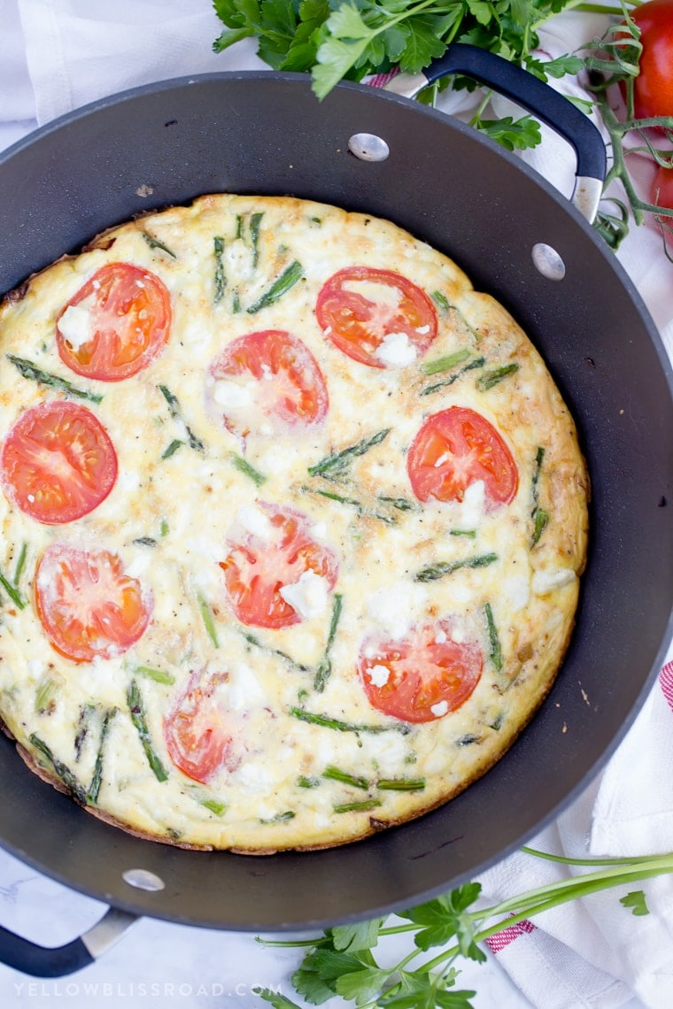 A frittata in a pan