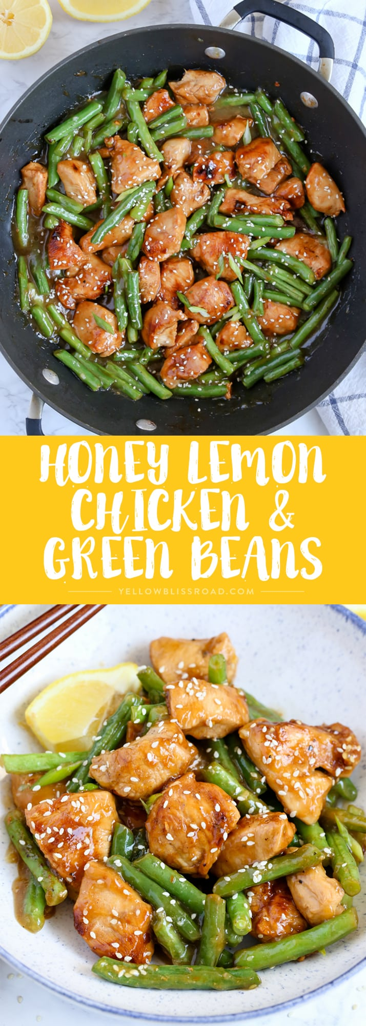 This Honey Lemon Chicken and Green Beans is a light and fresh meal with a ton of flavor. Dinner is on the table in just 20 minutes!