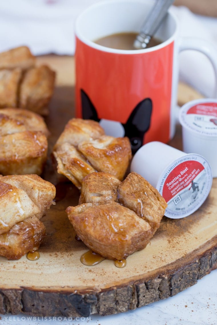 These Monkey Bread Muffins are a sweet breakfast treat that will go perfect with your morning coffee. Easy to make, and even easier to enjoy! #ad