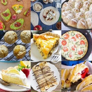 Collage of a bunch of different kinds of food