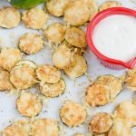 Plate of parmesan zucchini chips