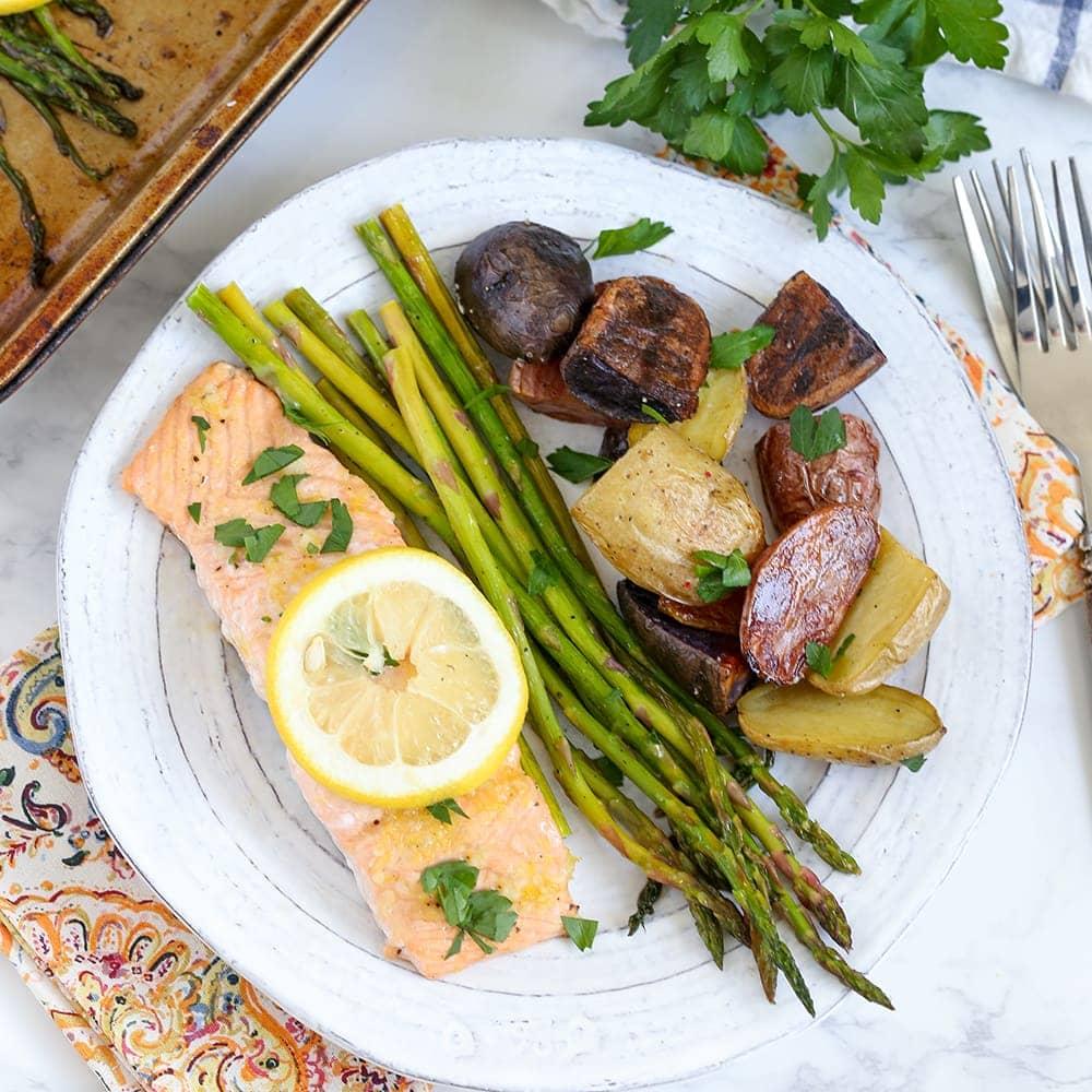 Potato Meal: Sheet Pan Salmon, Asparagus And Potatoes