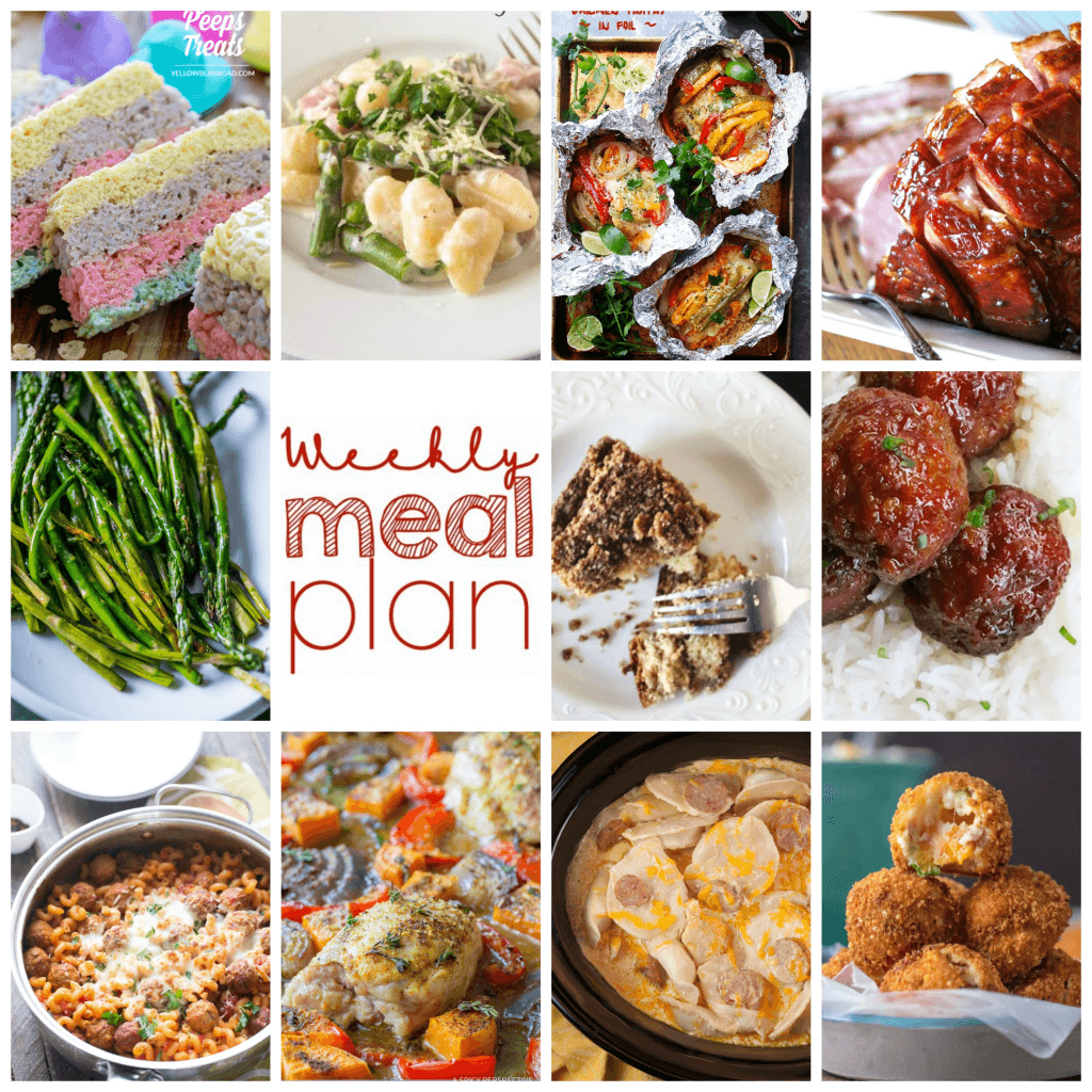 Weekly Meal Plan Week - 11 great bloggers bringing you a full week of recipes including dinner, sides dishes, and desserts!