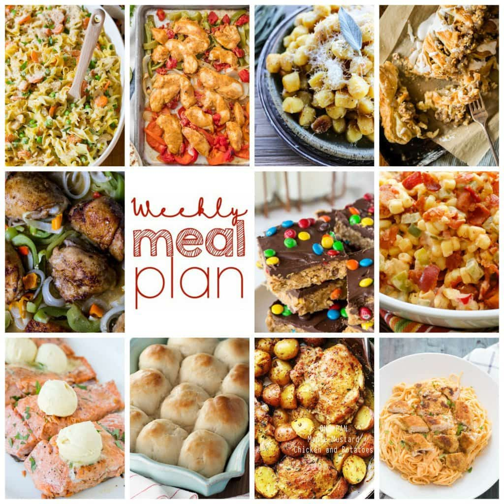 Weekly Meal Plan Week! Eleven great bloggers bringing you a full week of recipes including dinner, sides dishes, and desserts!