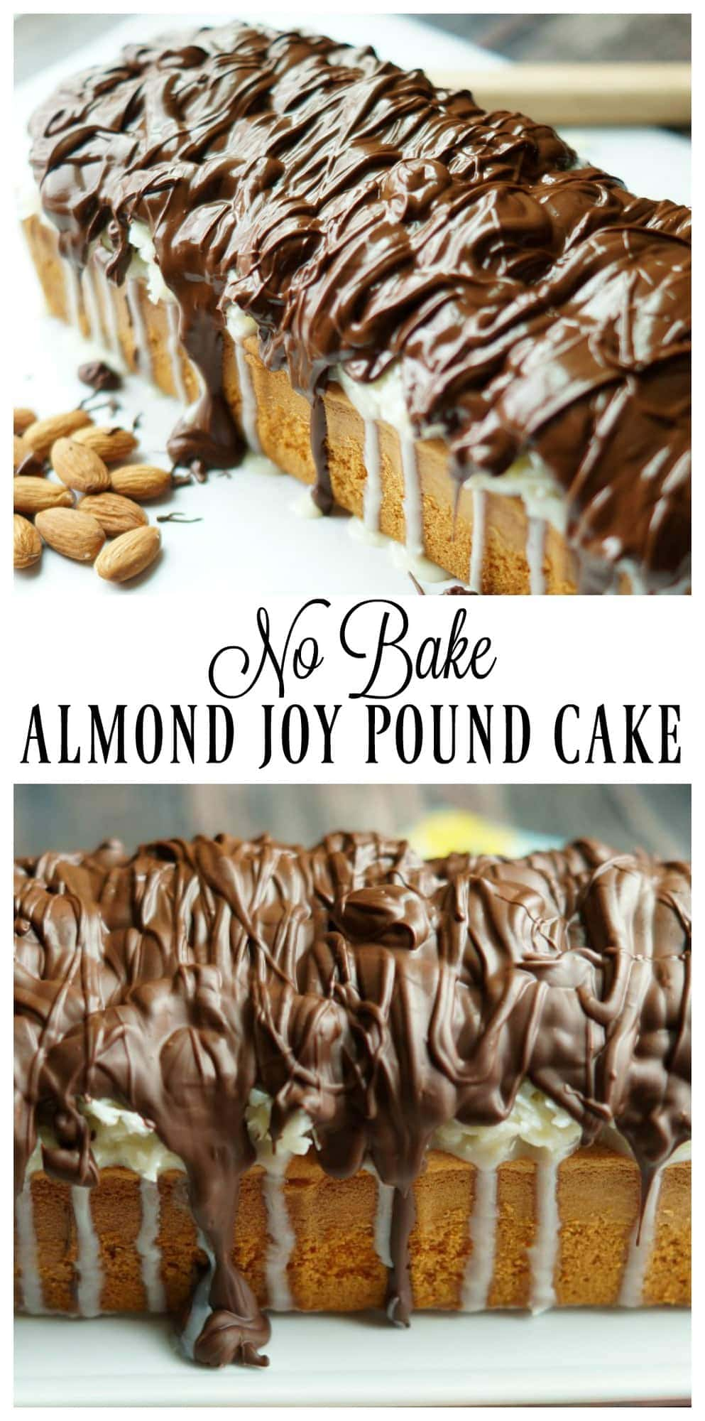 Easy and Delicious No Bake Almond Joy Pound Cake