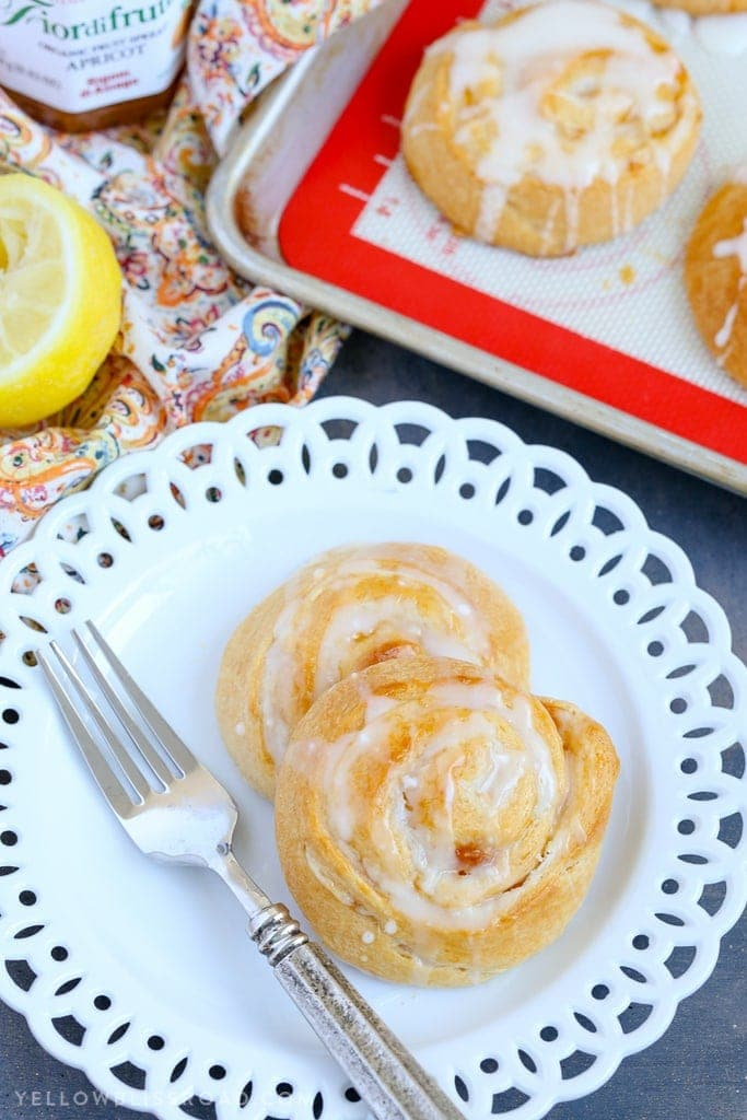 This Apricot Cream Cheese Danish is the perfect springtime treat or snack from Mother's Day brunch to afternoon tea.