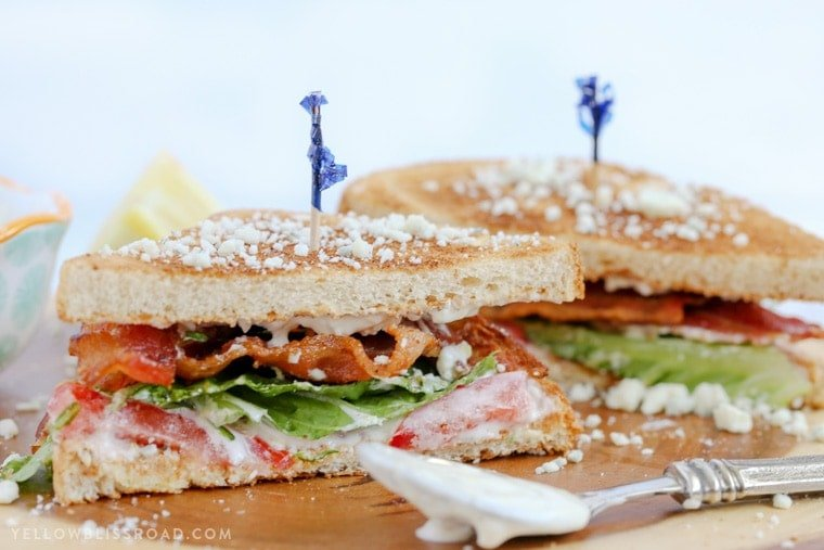 This Blue Cheese BLT Sandwich with Lemon Dill Mayo is your favorite, classic sandwich enhanced with sophisticated flavors, making this a sandwich you'll want to take your time with.