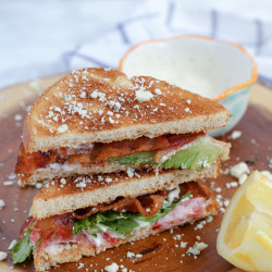 Blue Cheese BLT Sandwich with Lemon Dill Mayo