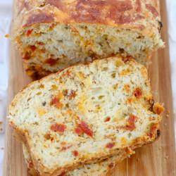 Cheesy Pizza Quick Bread