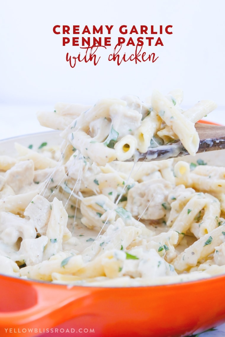 Creamy Garlic Penne Pasta with Chicken   Easy Weeknight Meal