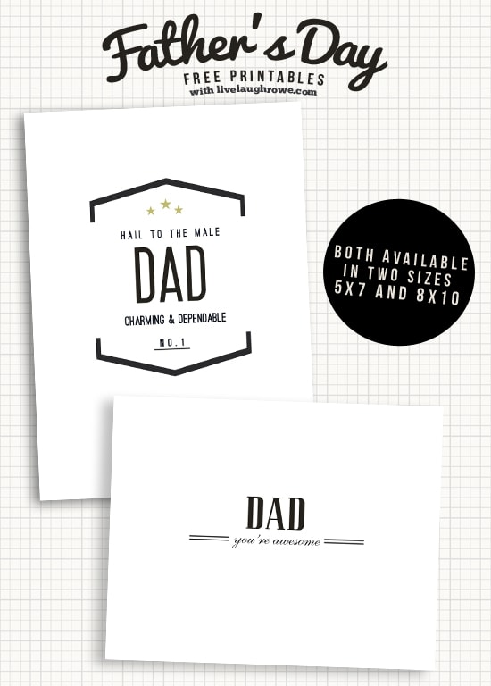 A close up of Father\'s Day printables