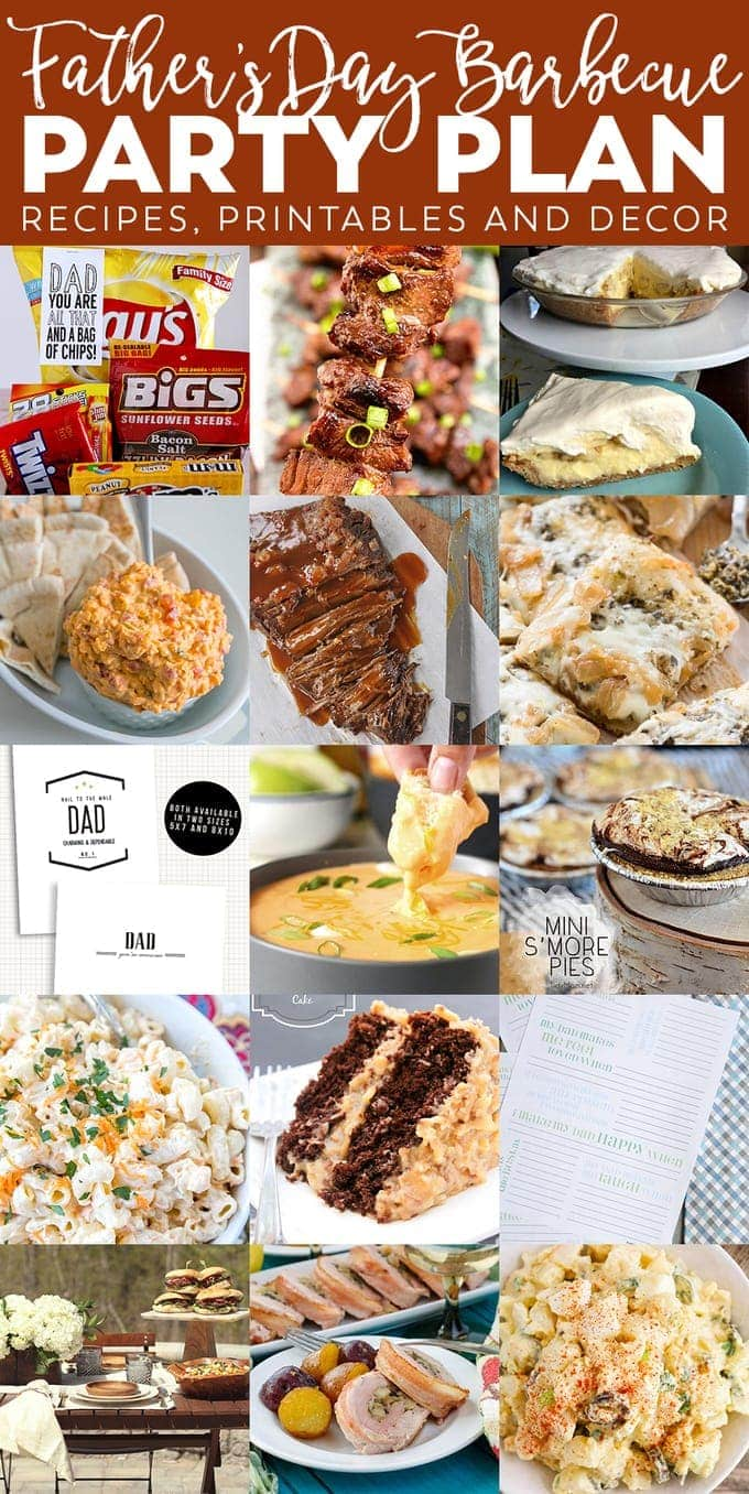 A collage of different types of food, with Barbecue