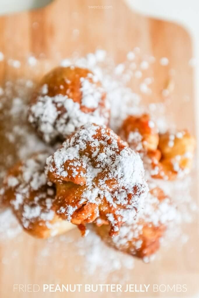 Dessert with powdered sugar on a plate
