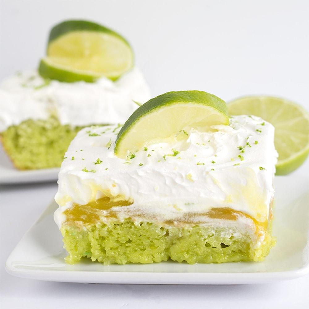 Lemon Lime Jello Poke Cake