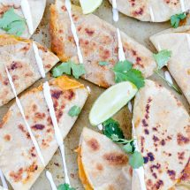 Mini Ranch Chicken, Bean & Cheese Quesadillas