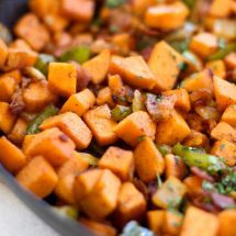 This Sweet Potato and Bacon Hash is an easy and savory brunch that the whole family will love!