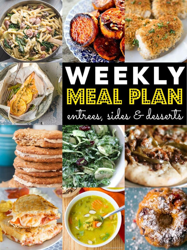 Weekly Meal Plan - Grab a pen and make your list - we've got your week covered with these 10 great recipes for your weekly menu.