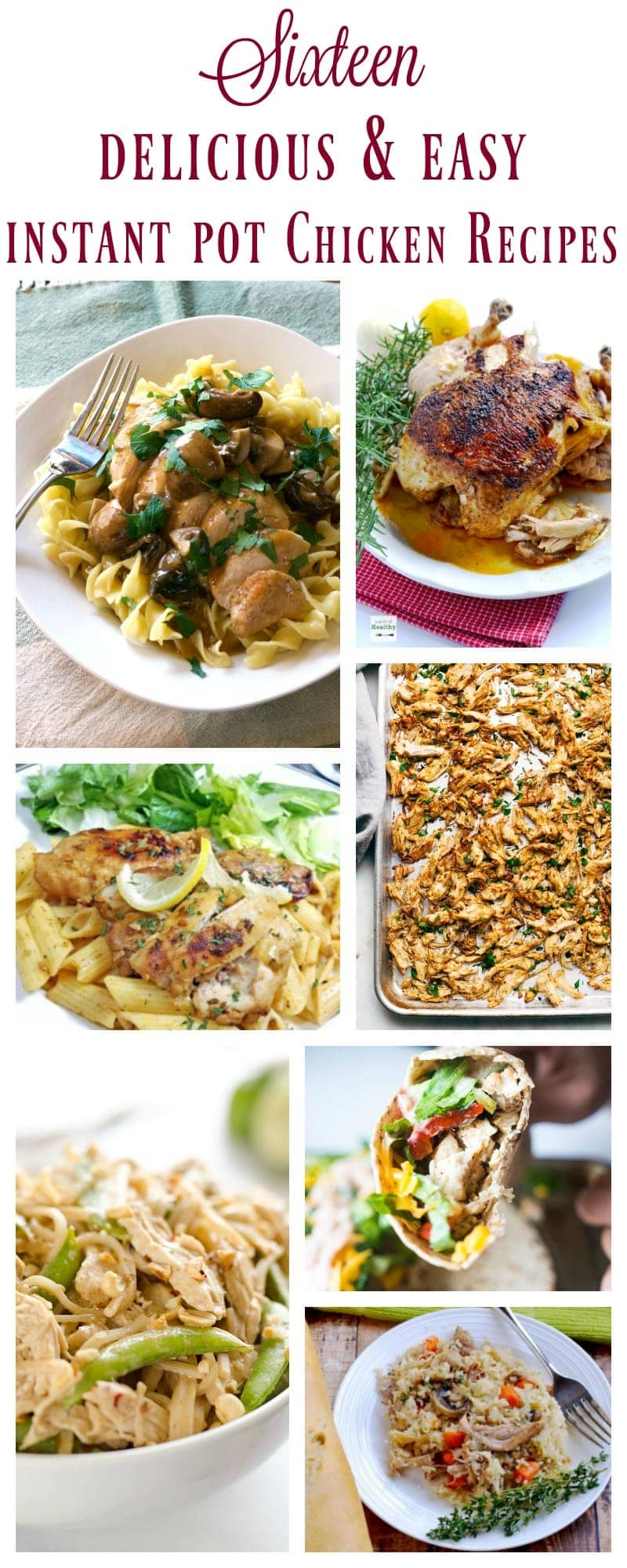 Collage of different types of food