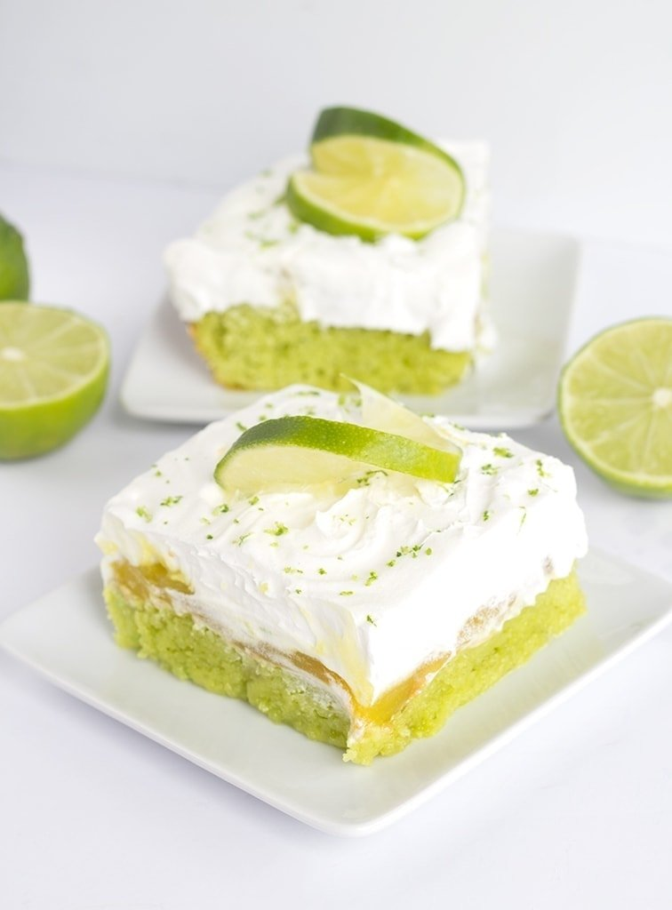 This lemon lime poke cake is packed full of flavor and a super simple dessert to make.