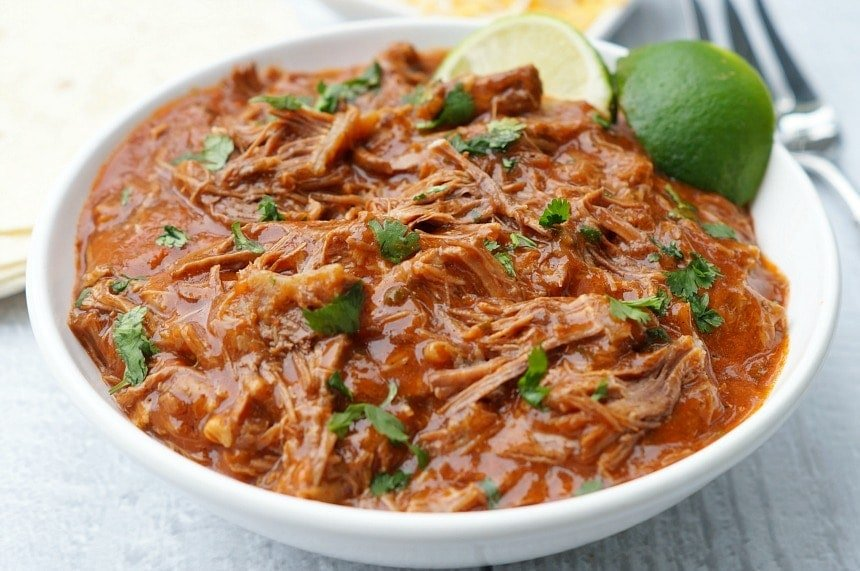 Instant Pot Spicy Shredded Mexican Beef is the perfect smoky chipotle base for enchiladas or beef tacos, especially on Cinco de Mayo!