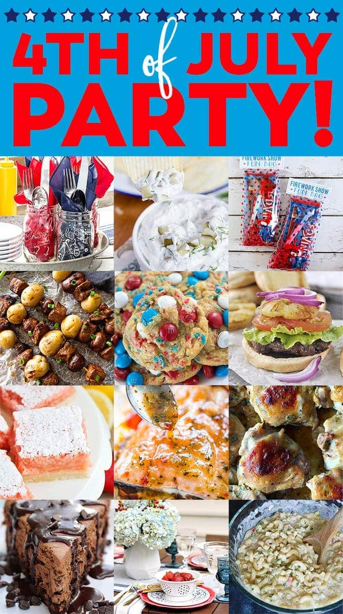 4th of July Party Ideas! Tons of great recipes, printables and decor for your Fourth of July Party, BBQ or picnic!