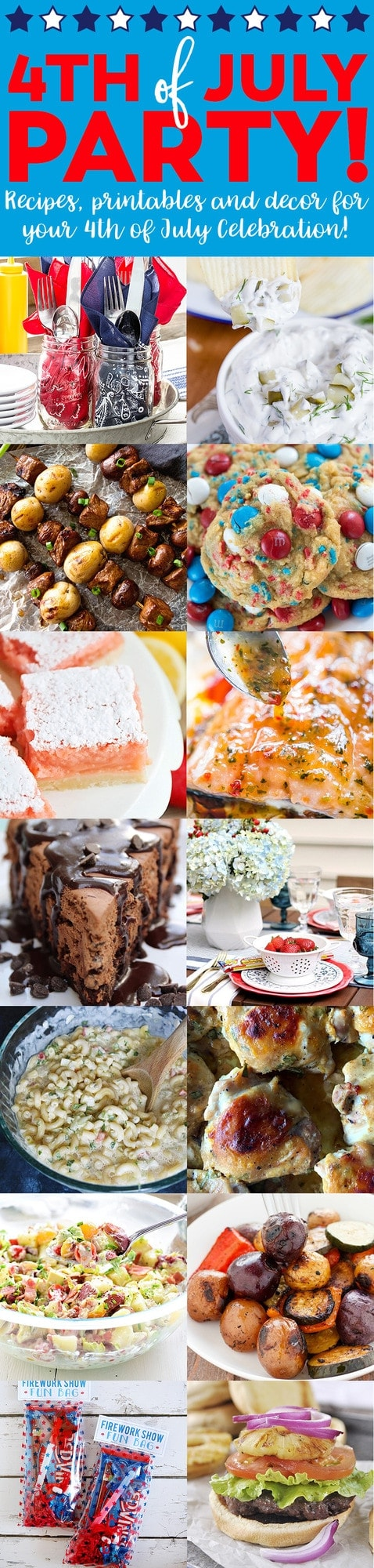 A collage of different food